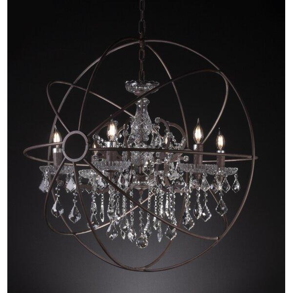Romina 6-Light Candle Style Globe Chandelier by Rosdorf Park Rosdorf Park