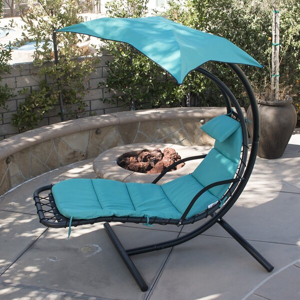 Polyester Hanging Chaise Lounger with Stand by Belleze