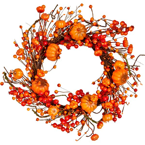 20 Small Pumpkin and Berries Wreath by Worth Imports