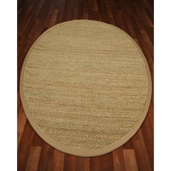 Half Panama Tan Solid Area Rug by Natural Area Rugs
