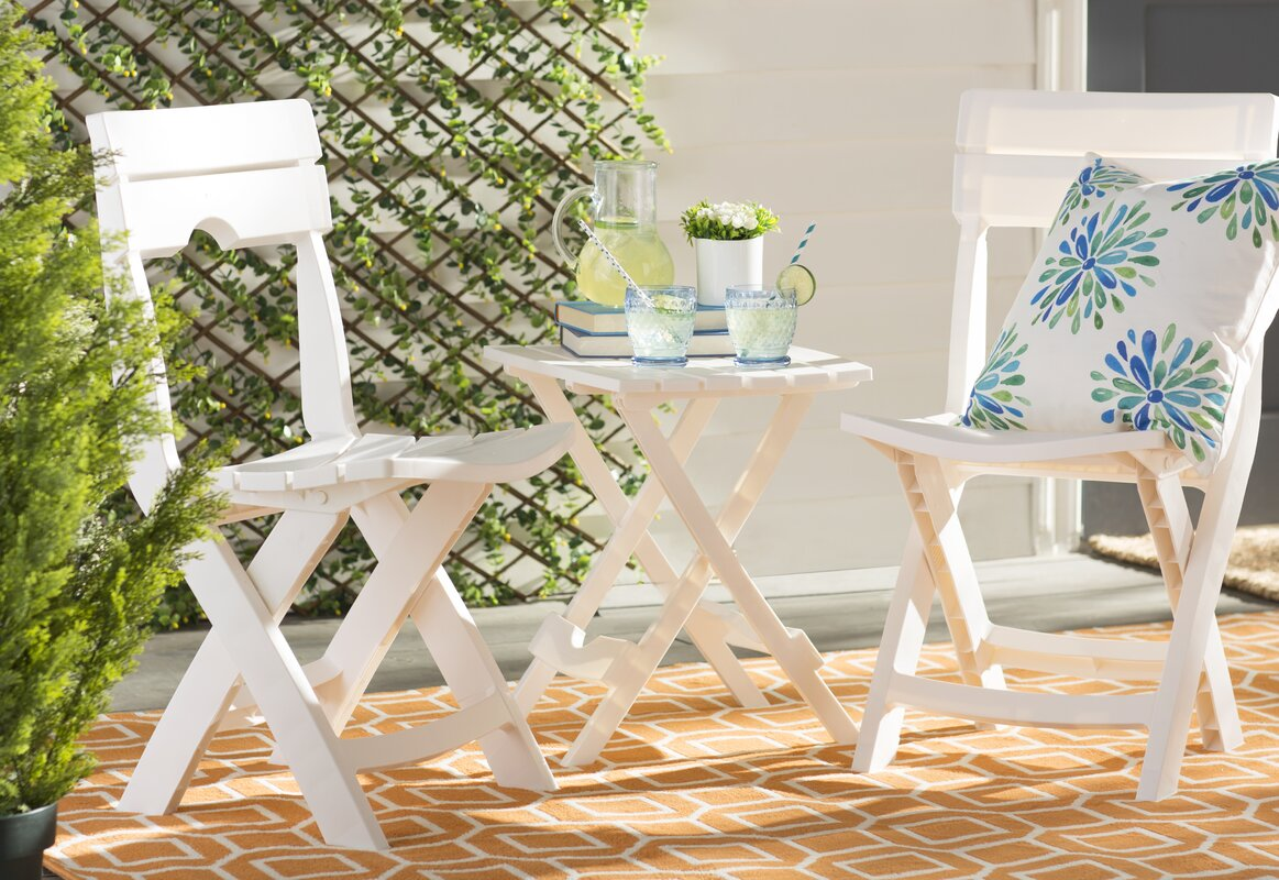 Quebec folding plastic side table reviews birch lane for Outdoor furniture quebec