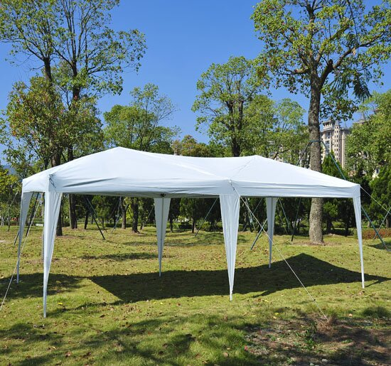 10 Ft. W x 20 Ft. D Steel Pop-Up Party Tent by Outsunny