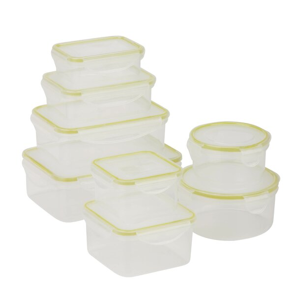 Snap Tab 142 Oz. 8 Container Food Storage Set by Honey Can Do