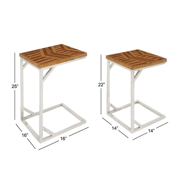 Westall Rustic 2 Piece Nesting Tables by Bungalow Rose