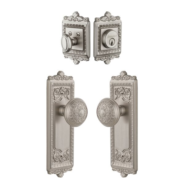 Windsor Keyed Door Knob by Grandeur