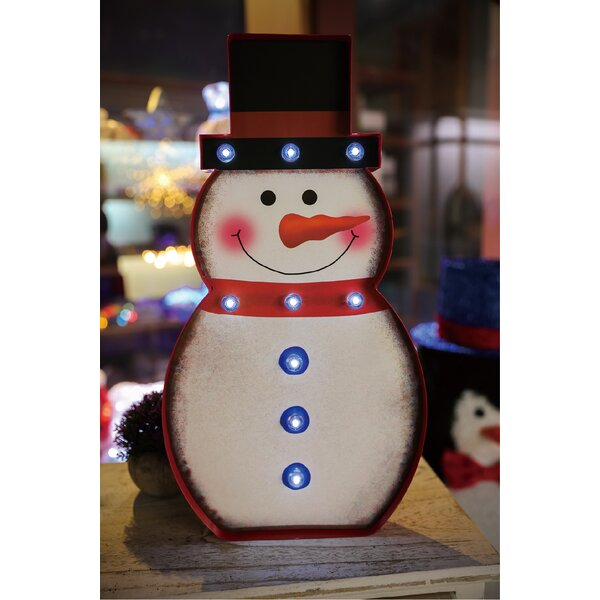 Marquee Snowman Sign Wall Décor by The Holiday Aisle