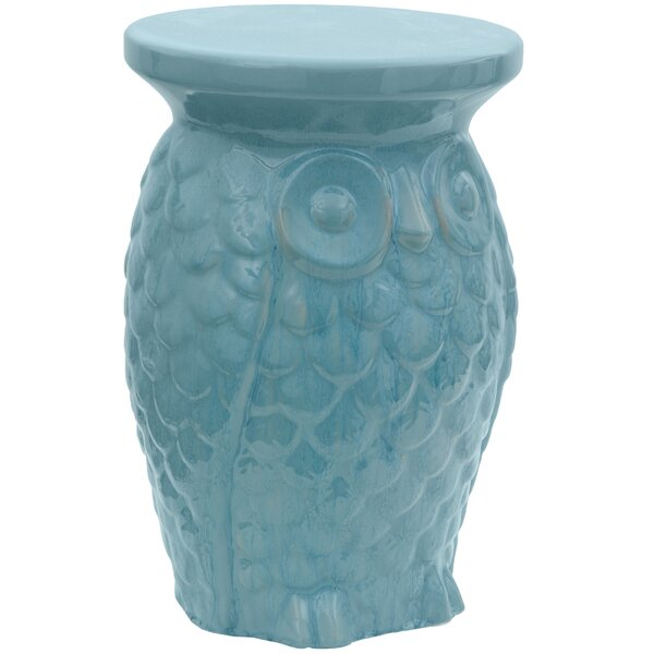 Sobieski Owl Porcelain Garden Stool by World Menagerie World Menagerie
