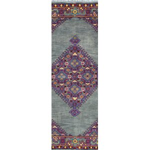 Enschede Hand-Knotted Grey Area Rug
