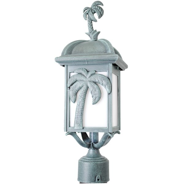 Penfield Palm Tree Series 1 Light 18.5 Post Lantern by Alcott Hill