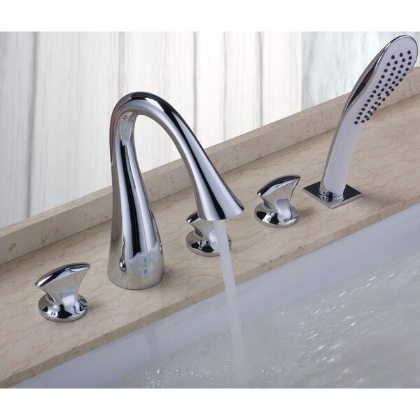 Triple Handle Deck Mount Bath Tub Faucet by Sumerain International Group