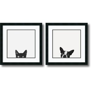 2 Piece 'Curiosity and Loyalty' Framed Photographic Print Set by Mercury Row