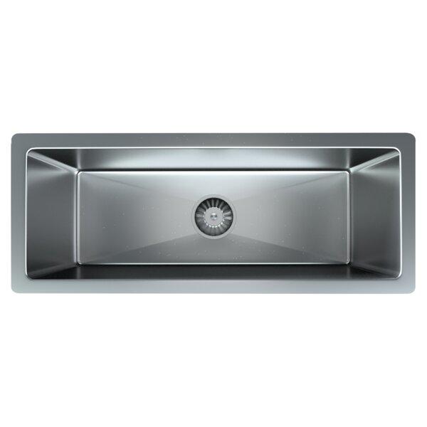 25 L x 10 W Undermount Kitchen Sink with Basket Strainer
