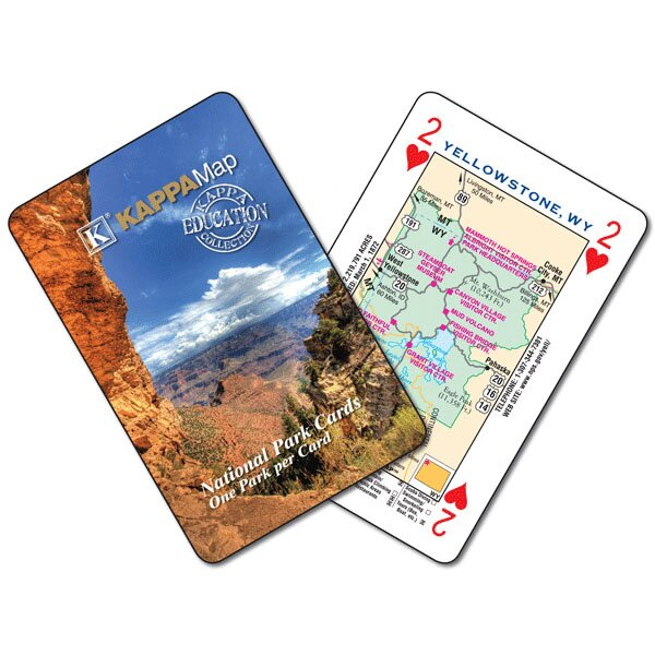 Geography U.S. National Park Map Playing Card by Universal Map