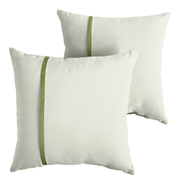 Forsberg Indoor/Outdoor Sunbrella Throw Pillow (Set of 2) by Charlton Home