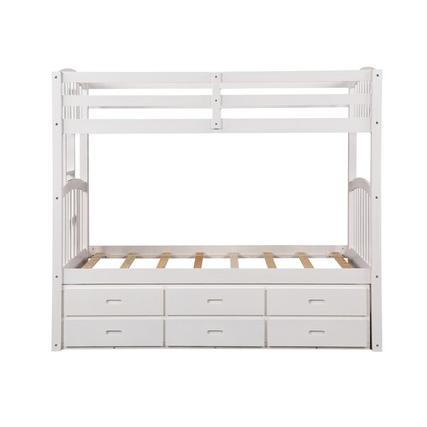 Mcgrane Twin over Twin Bunk Bed with Trundle and 3 Drawers by Harriet Bee