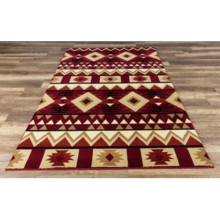 Paugh Premium Southwestern Natïve Red Cream Area Rug