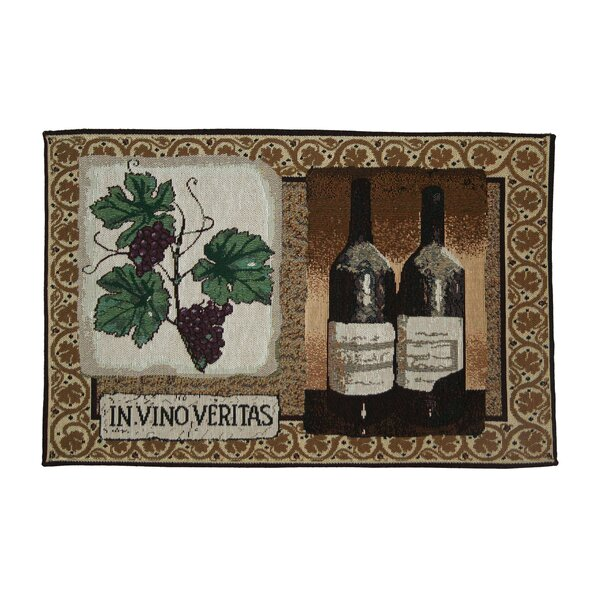 Beland Vino Veritas Tapestry Placemat (Set of 4) by Fleur De Lis Living
