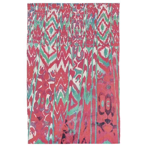 Florus Hand Woven Melon Indoor/Outdoor Area Rug by World Menagerie