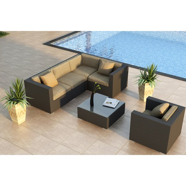 Azariah 6 Piece Sunbrella Sectional Seating Group with Cushions by Orren Ellis