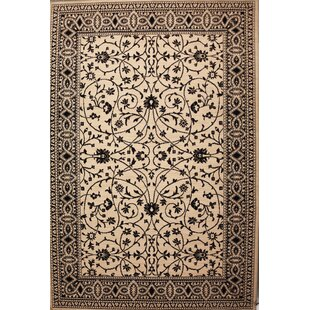 Best Choices Delucia Wool Ivory/Black Area Rug ByCharlton Home
