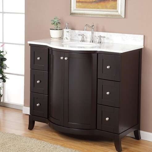 Holliston 42 Single Bathroom Vanity Set by Charlton Home