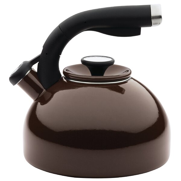 2-qt. Stainless Steel Tea Kettle in Chocolate by Circulon