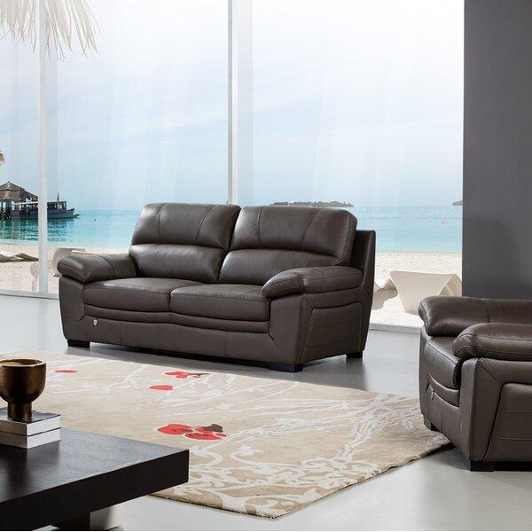 Uecker Leather Sofa by Latitude Run Latitude Run