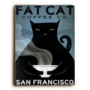 'Cat Coffee' Graphic Art by Winston Porter
