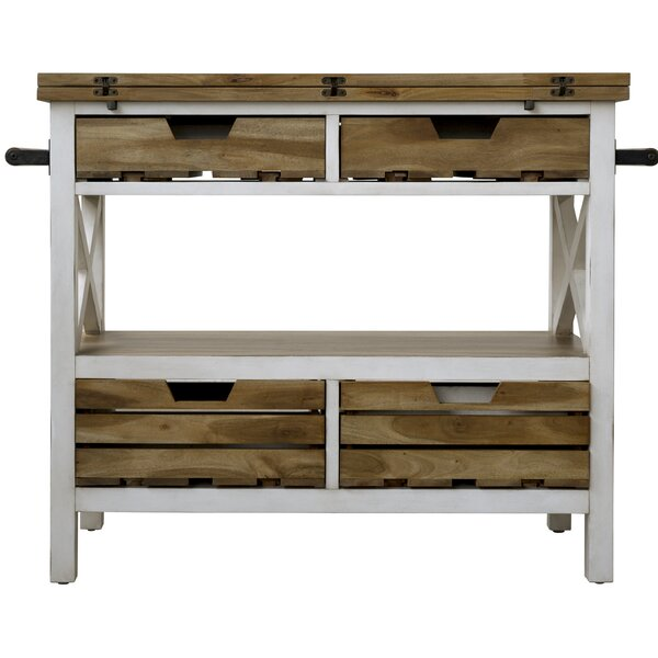 Keener Kitchen Island Manufactured Wood by Gracie Oaks