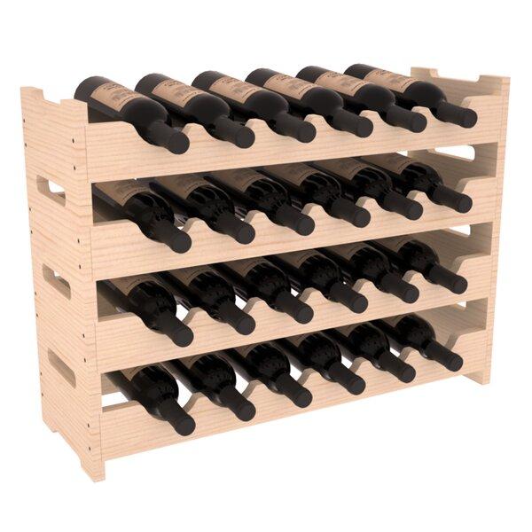 Karnes Mini Scalloped 24 Bottle Tabletop Wine Bottle Rack by Red Barrel Studio Red Barrel Studio