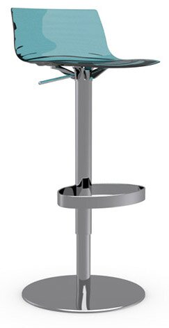 L'Eau Adjustable Height Swivel Bar Stool by Connubia