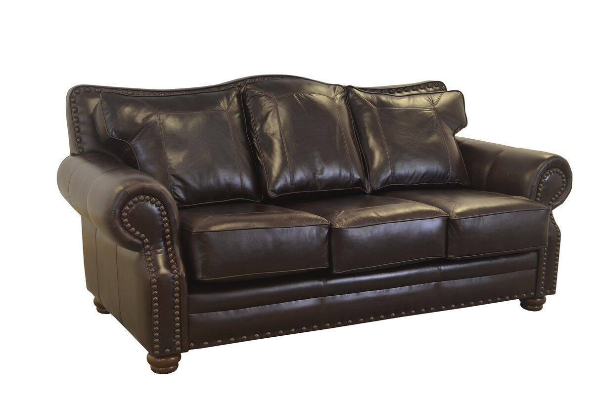 Merveilleux Westford Genuine Top Grain Leather Sofa