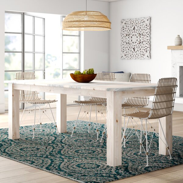 Abella 4 Post Extendable Solid Wood Dining Table by Loon Peak Loon Peak