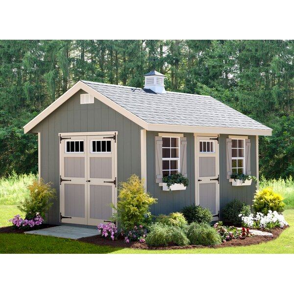 Riverside 10 ft. W x 14 ft. D Wooden Storage Shed by EZ-Fit Sheds