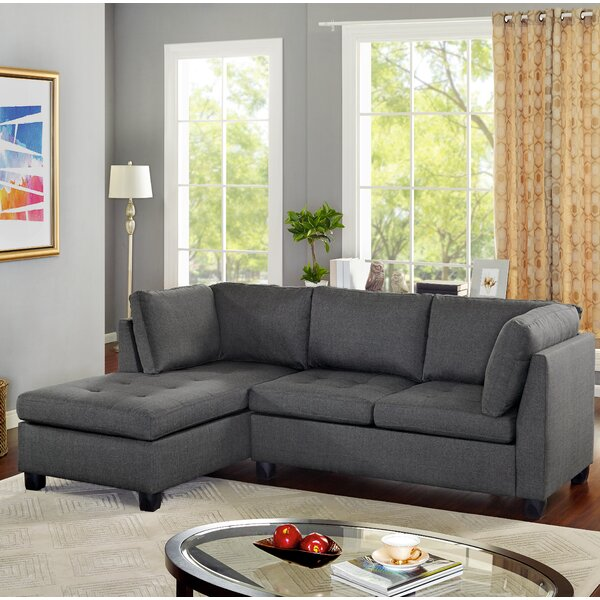 Whitehill Reversible Sectional by Ebern Designs