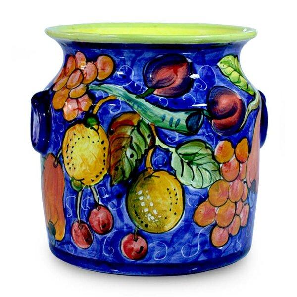 Tropical Bounty Flower Ceramic Pot Planter by Novica