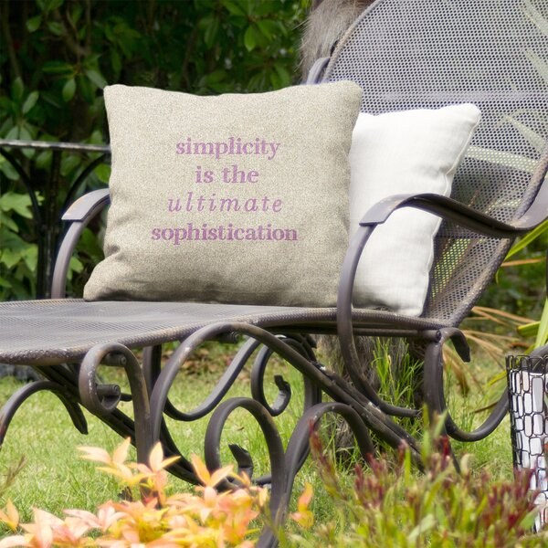 Simple and Sophisticated Indoor/Outdoor Throw Pillow