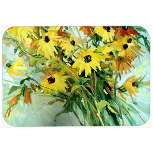 Review Wildflower Bouquet Flowers Glass Cutting Board By Caroline's Treasures
