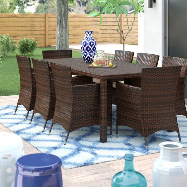 Kennerdell 9 Piece Dining Set with Cushions by Brayden Studio