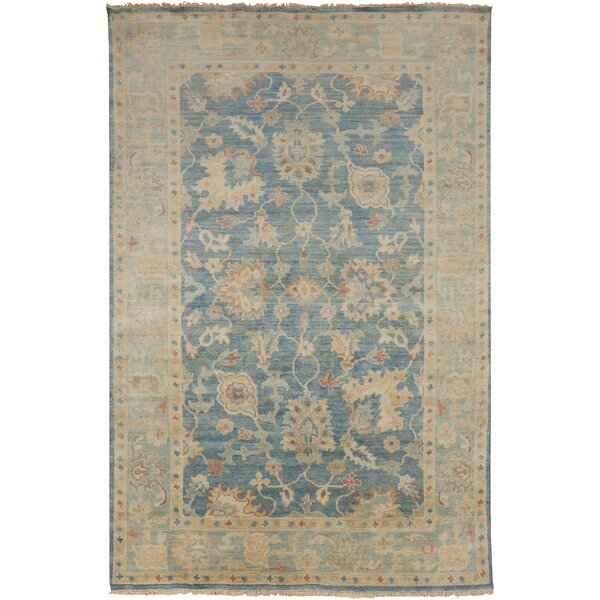 Eller Beige/Teal Rug by Darby Home Co