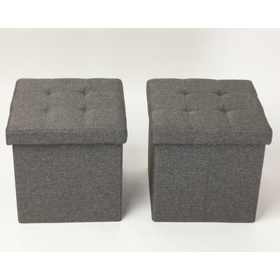 Gray Square Storage Ottomans You Ll Love In 2019 Wayfair