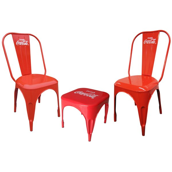 Coca-Cola Retro Caf 3 Piece Bistro Set by Leigh Country Leigh Country