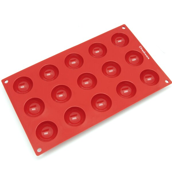 15 Cavity Mini Half Sphere Silicone Mold Pan by Freshware