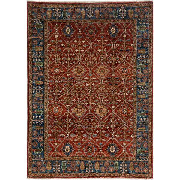 One-of-a-Kind Ziegler Hand-Knotted Red Area Rug by Darya Rugs