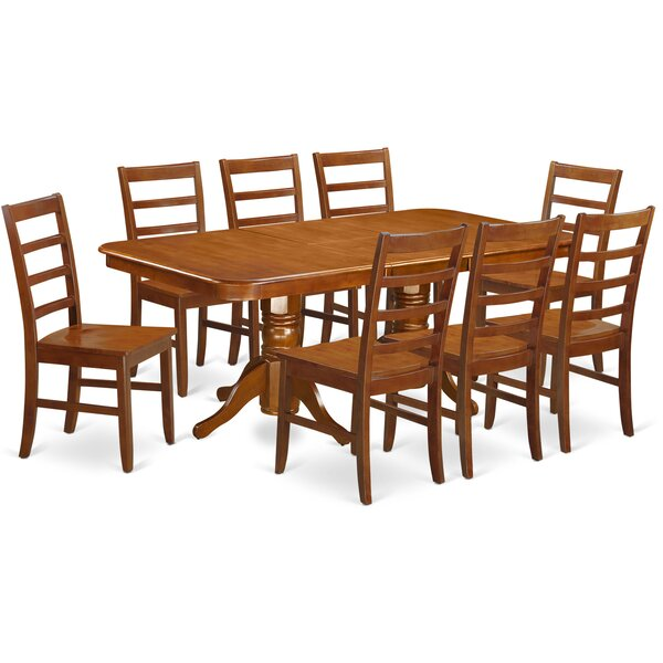 Pillsbury Contemporary 9 Piece Wood Dining Set by August Grove