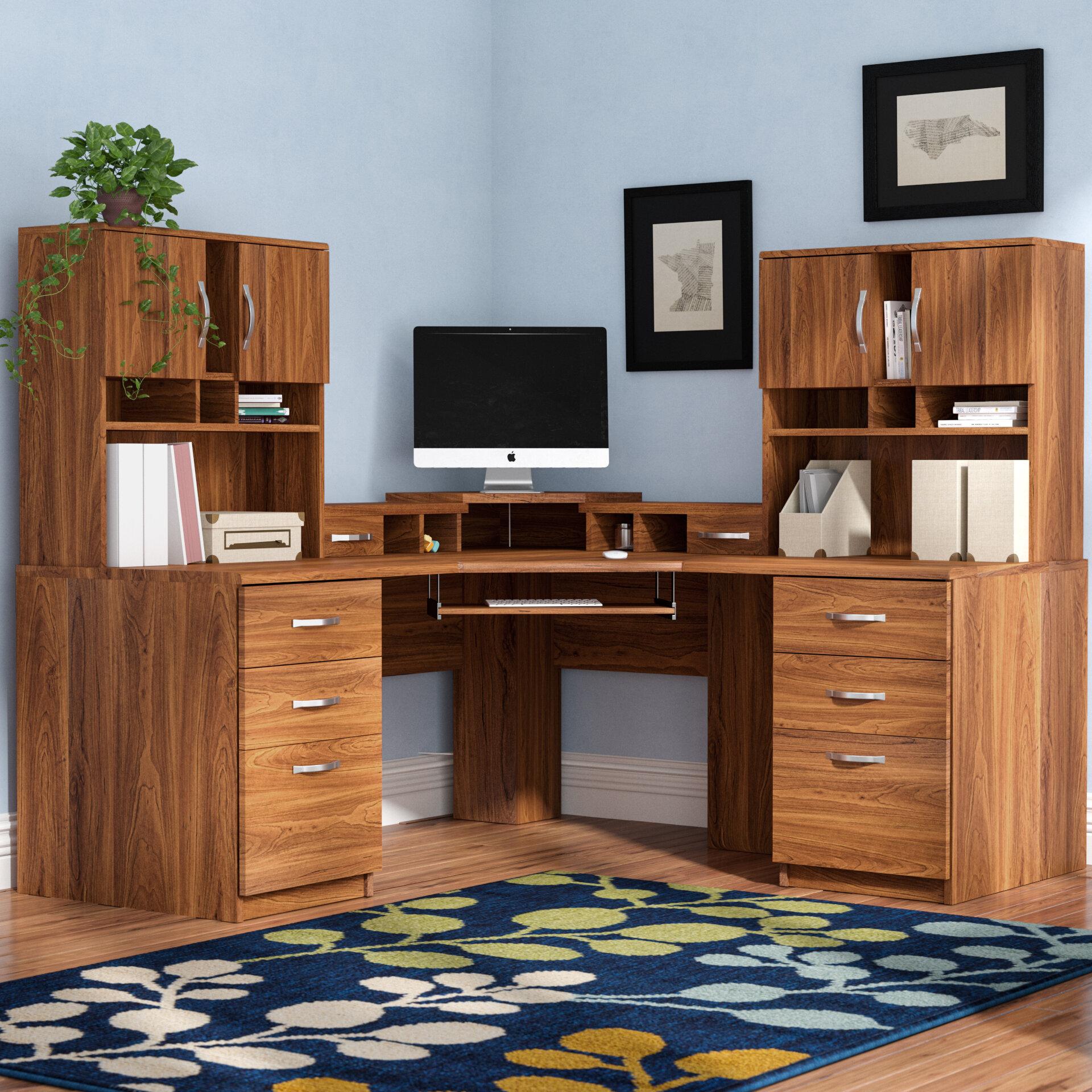 promo code 08b35 9ce73 Leavy Corner Executive Desk with Hutch