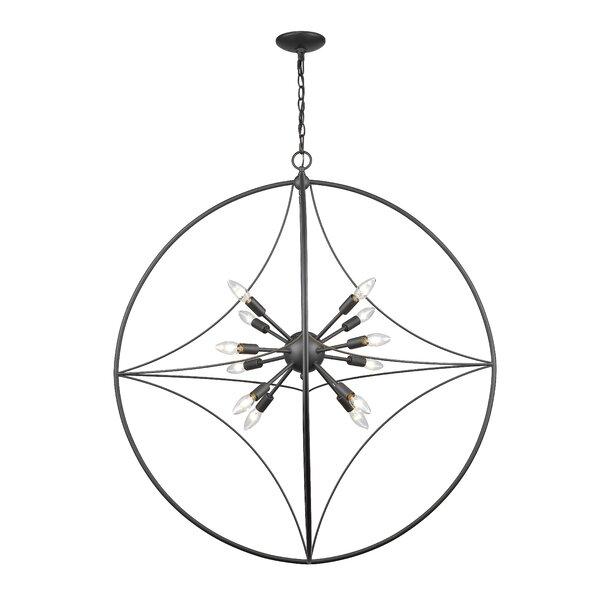 Silvester 12 - Light Sputnik Sphere Chandelier by Brayden Studio Brayden Studio