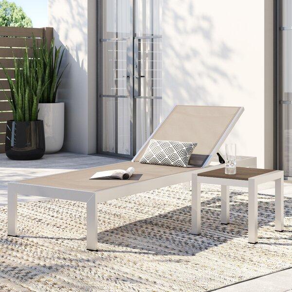 Coline Outdoor Patio 2 Piece Single Chaise Set by Orren Ellis Orren Ellis