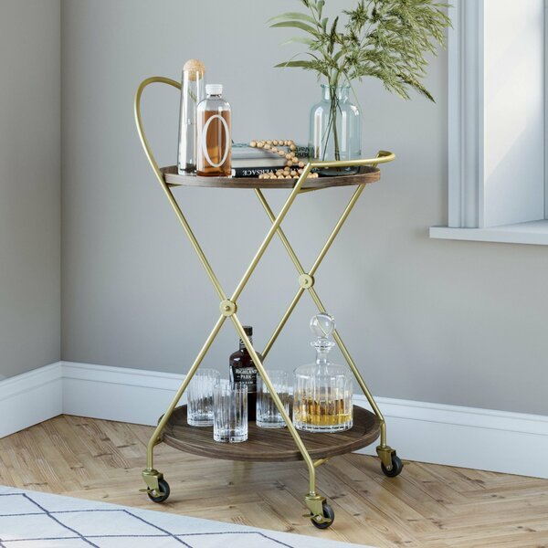 Fairport 2-Tier Bar Cart By Wrought Studio