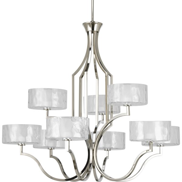 Osmanu 9 - Light Shaded Tiered Chandelier by Red Barrel Studio Red Barrel Studio